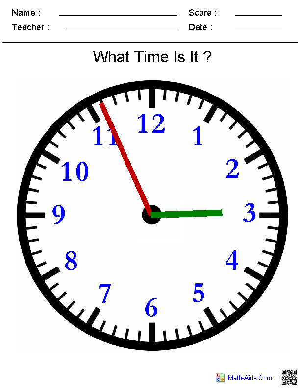 Clock Face Lesson Plan Worksheets | Learn to tell time ...