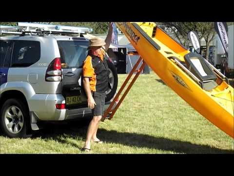 Strong Arm Kayak Loader Loading A Hobie Kayak Strongarm Loading