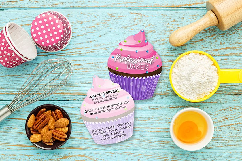 Cupcake shaped business card for bakers business cards pinterest cupcake shaped business card for bakers colourmoves