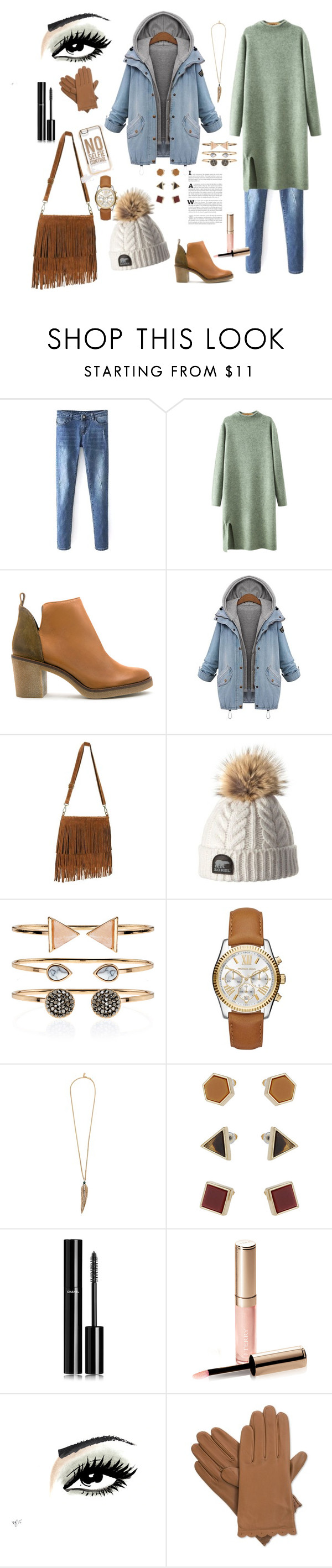 """❄WINTER❄"" by paulagar ❤ liked on Polyvore featuring Chicnova Fashion, Miista, Accessorize, Michael Kors, Roberto Cavalli, Topshop, Chanel, By Terry, Isotoner and ASOS"