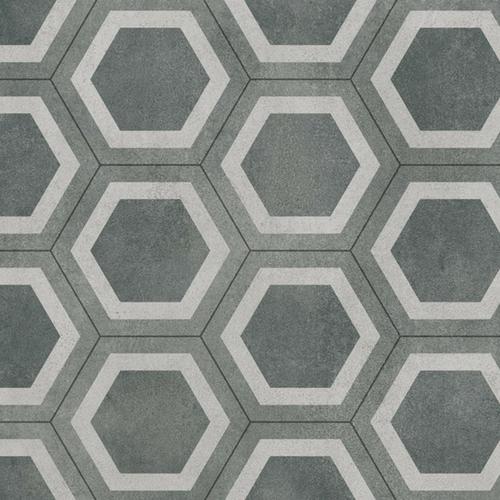 Vinyl Flooring Hexagon Green