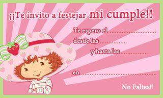 Tarjetita De Cumpleaños De Rosita Fresita Para Imprimir Lu