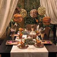 Safari Chic Party Decorating Ideas - a possible cool theme | patio ...