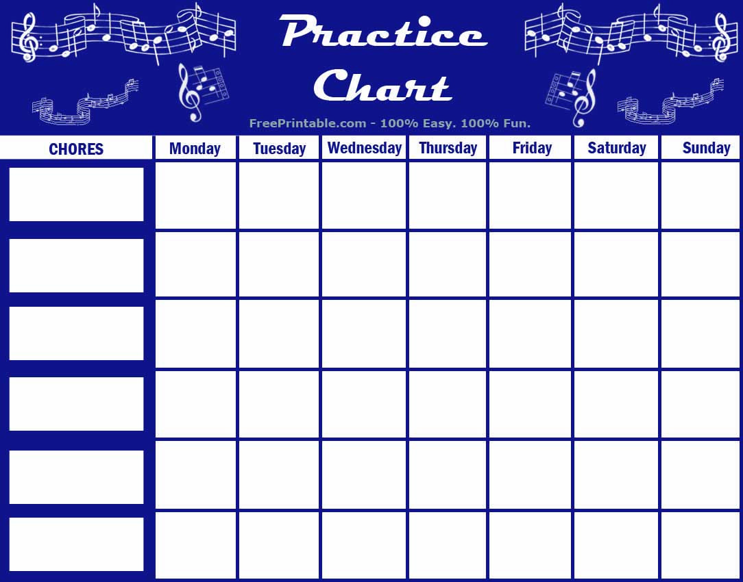 image about Music Practice Chart Printable Free identified as Personalize Your Totally free Printable New music Teach Chart Piano