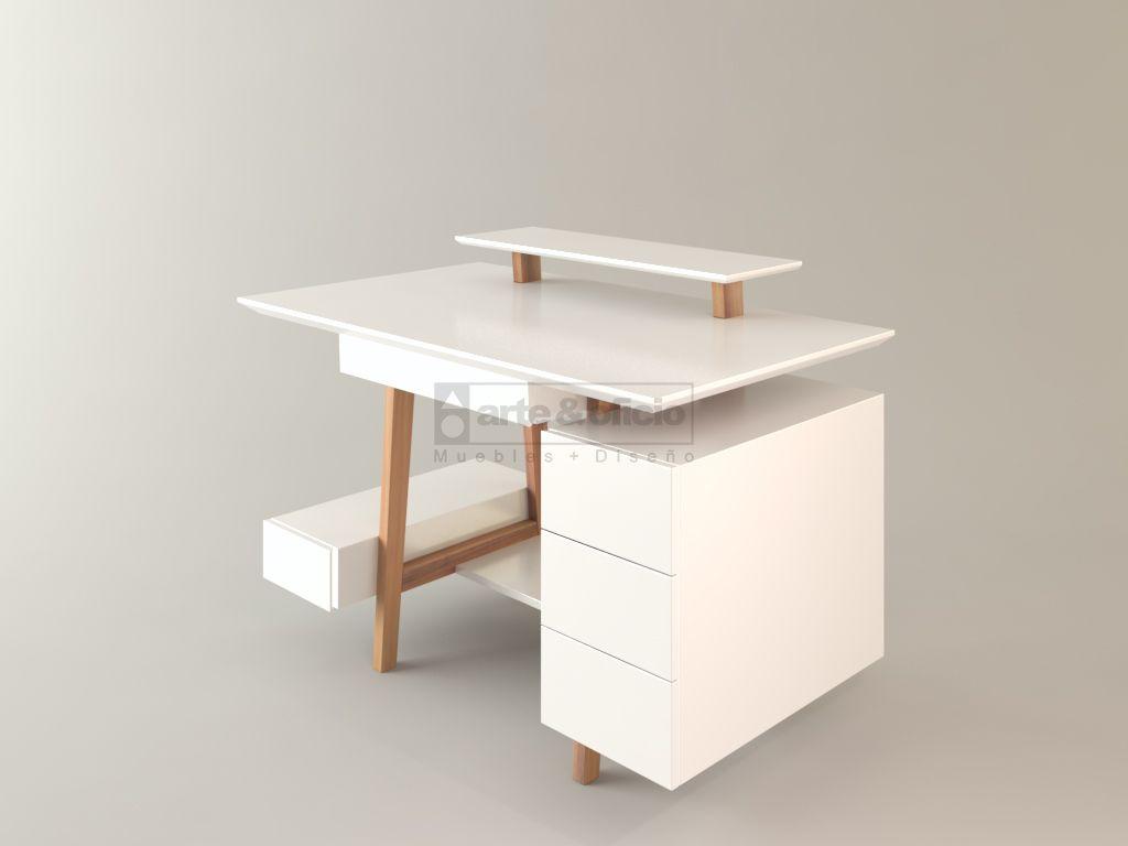 Escritorio Workspace Calden Vista Escorzo Medidas 1 20 X 0 70  # Muebles Para Notebook E Impresora