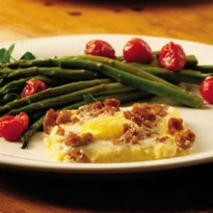 Cheesy Polenta & Egg Casserole Recipe