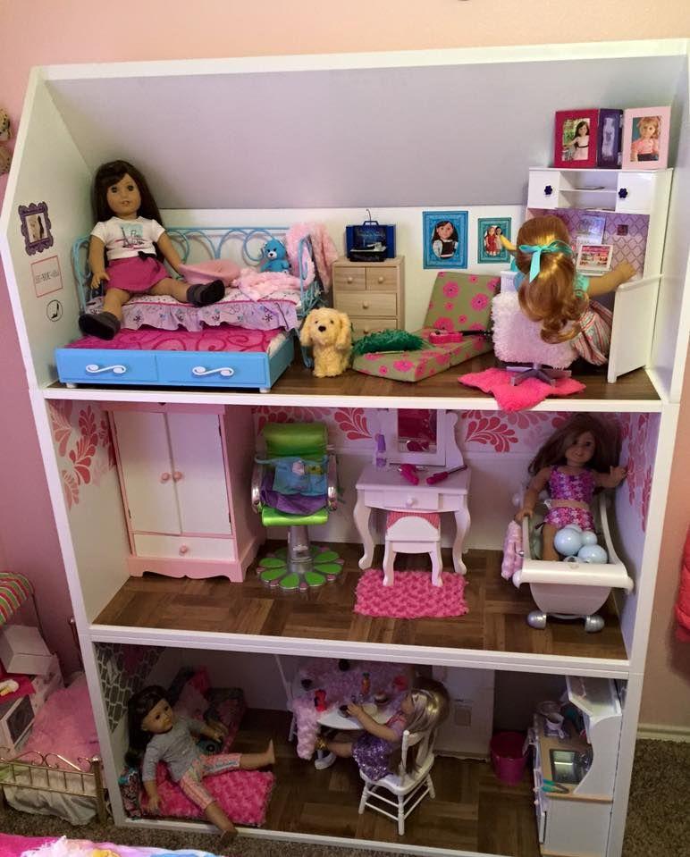 american girl dollhouse ikea stubva and added roof | american girl
