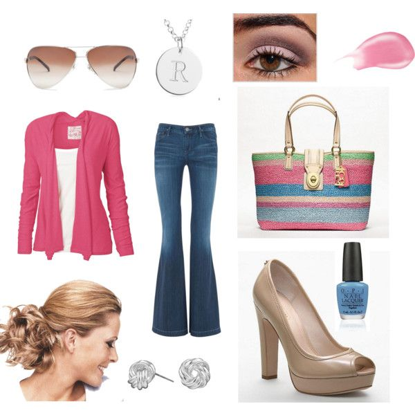 PINK BLUE SILVER, created by jenhaught.polyvore.com