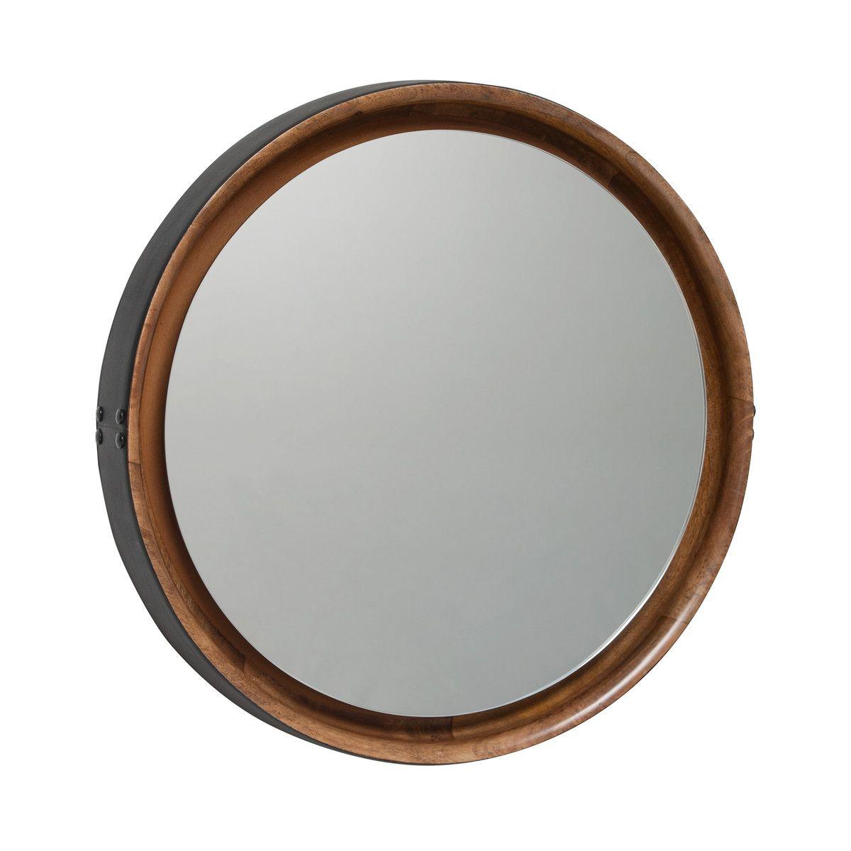 Mater Sophie Mirror klein ˜ 42 cm schwarz braun