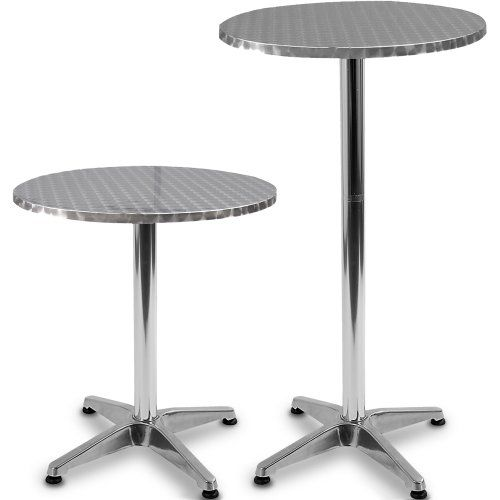 Miadomodo® BST02 Bistrotisch Aluminium höhenverstellbar 70 cm oder
