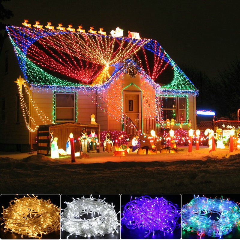 200//300//500 LED Fairy String Lights Outdoor Christmas Tree Party Xmas Warm White