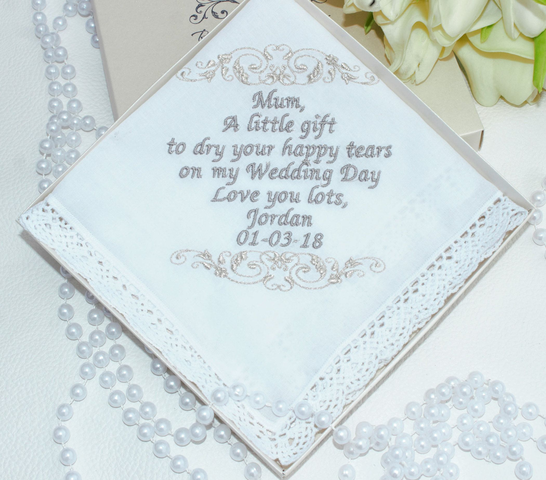 Mother, gift,mother in law, Personalised embroidered wedding ...