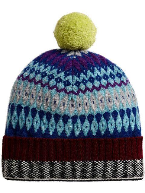 627c5164b Burberry Fair Isle Beanie | women accessories | Beanie, Knitted hats ...