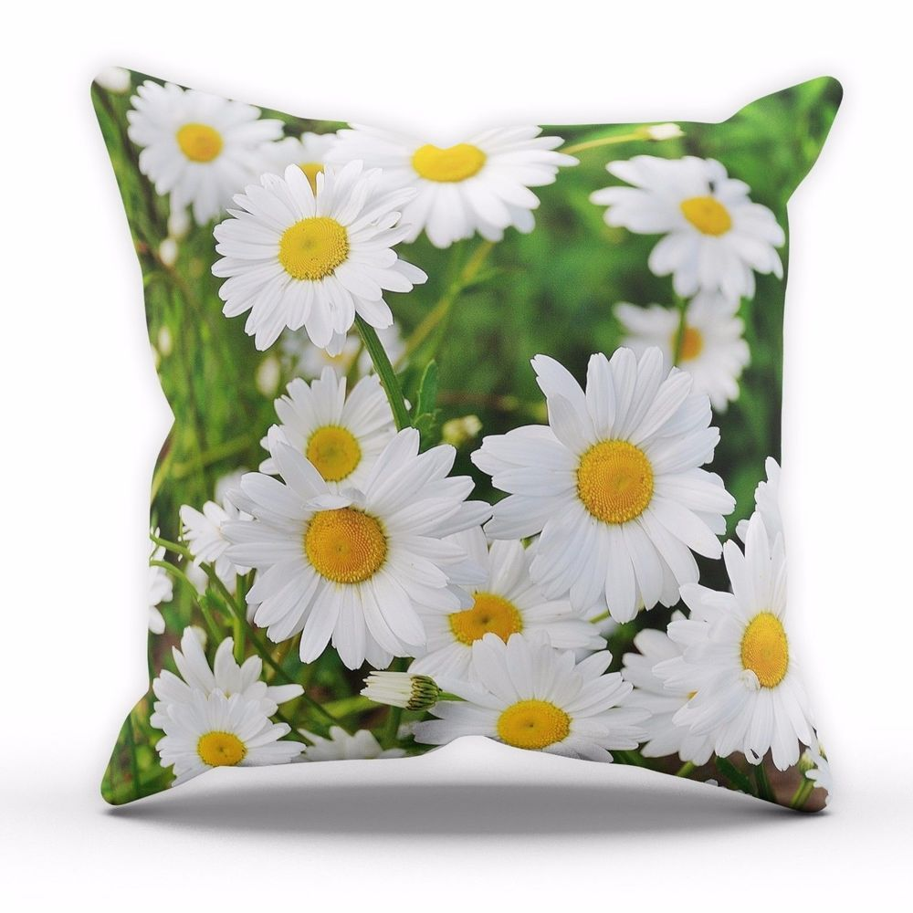 Fresh Daisy Flowers Cushion Floral Pattern Kitchen Lounge Novelty