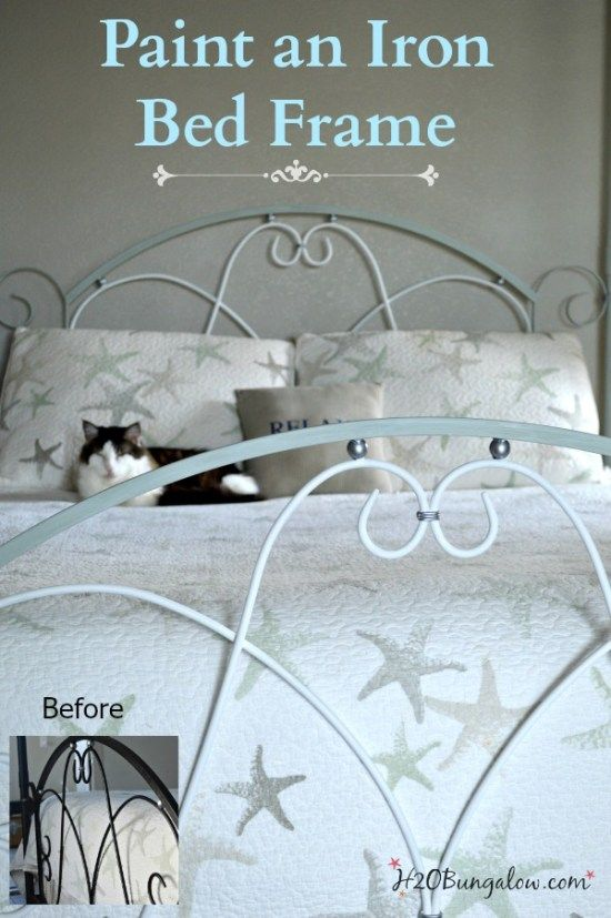 Gracefully Easy Steps In Painting An Iron Bed Frame Iron Beds