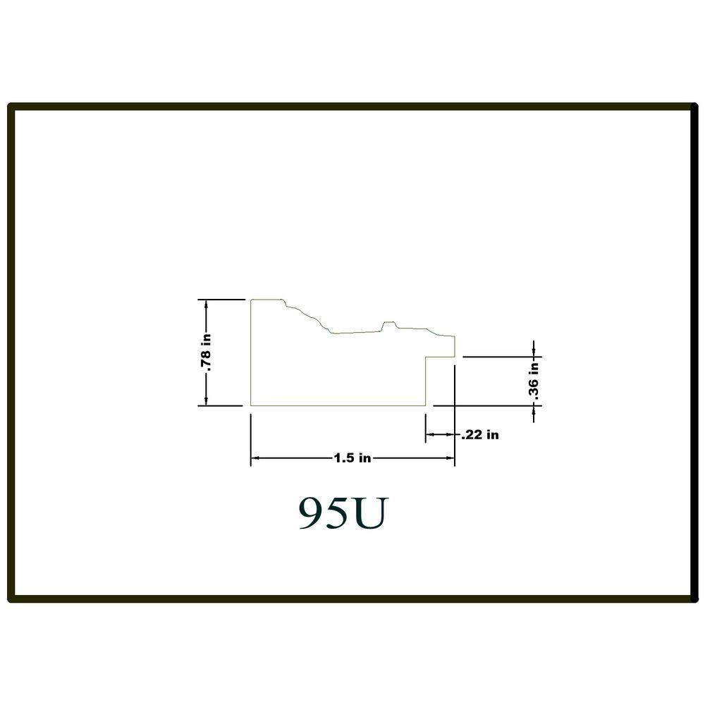 House Of Fara 3 4 In X 1 1 2 In X 96 In Hardwood Picture Frame