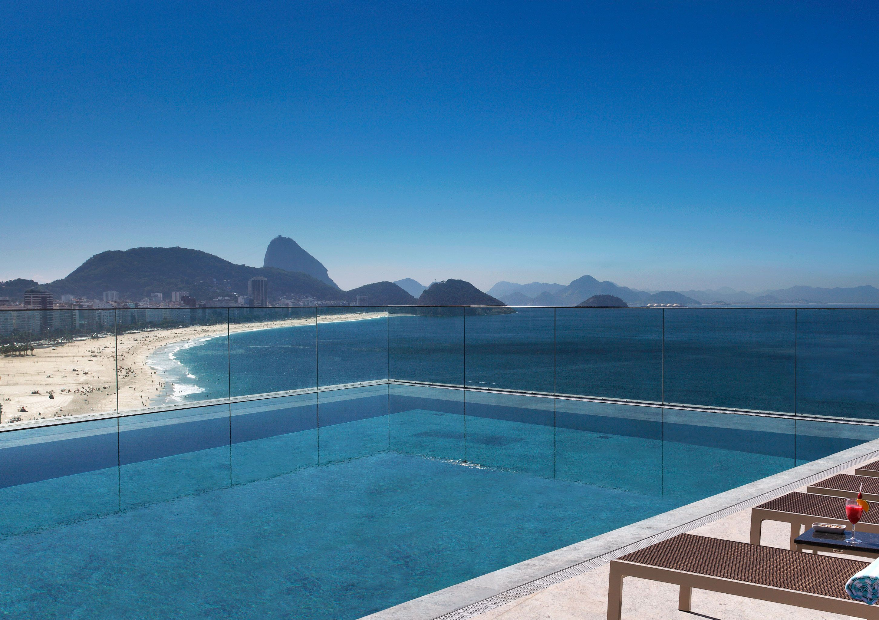 Miramar Hotel By Windsor—Rio de Janeiro, Brazil. Infinity pool..