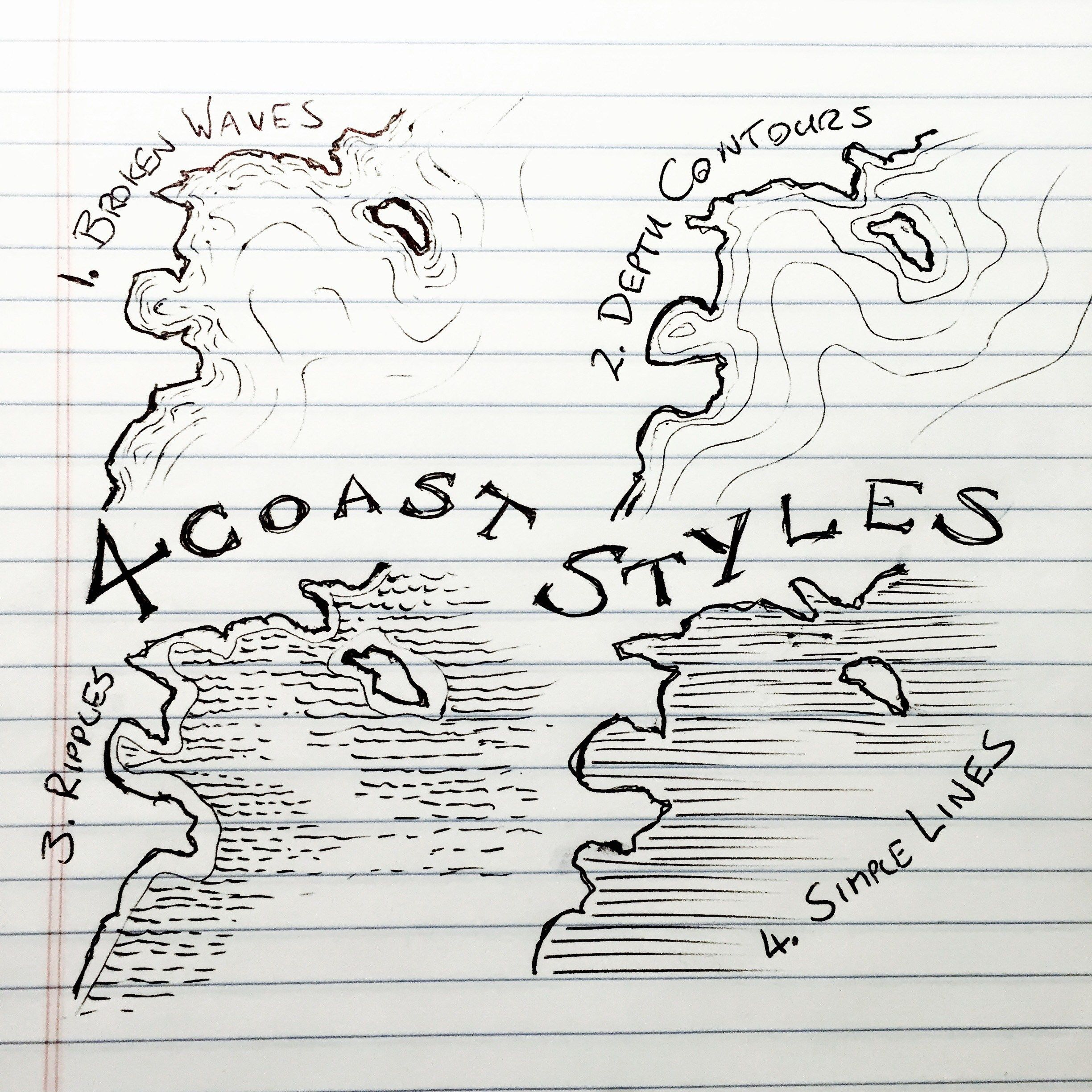 4 Coast Styles for Mapmaking   Fantasy map making, Fantasy ... on sketching a map, navigating a map, drawing rock cliffs, drawing princess anna, creating a map, showing a map, drawing the csx, treasure map, united states a map, charting a map, drawing ghetto streets, draw a simple map, how do you make a map, making a map, craft a map, wood burning a map, drawing kd 7, drawing about trees, painting a map,