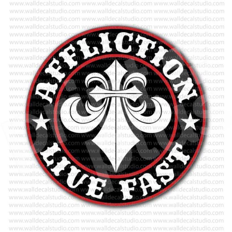 Affliction live fast sticker affliction logo items