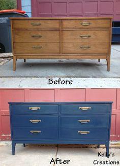 painted mid century furniturepainted mid century dressers  Google Search  Future Baby Boy