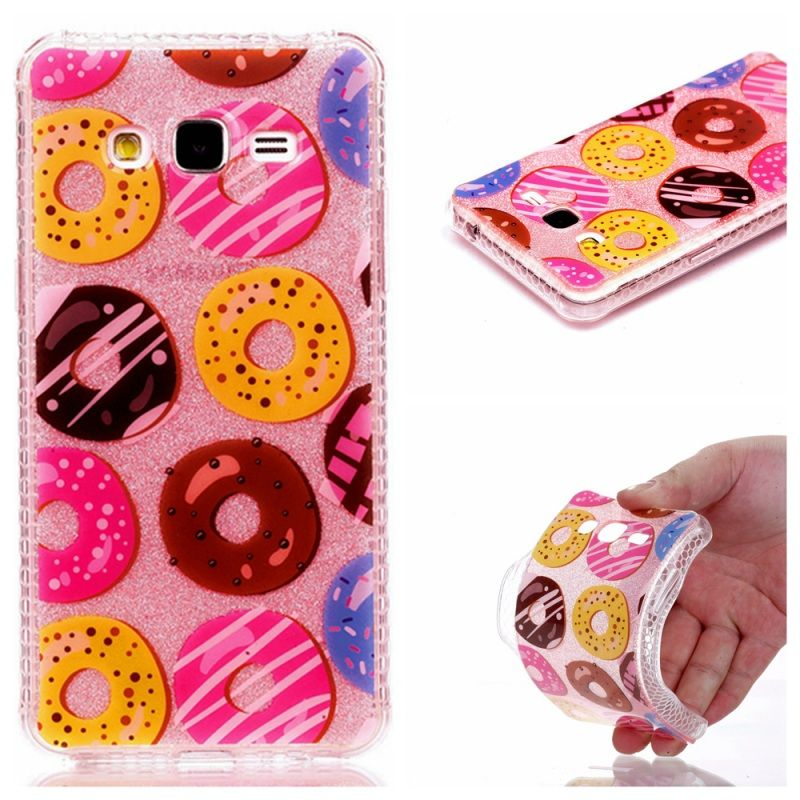 6141df7f881 For Samsung Galaxy J2 Prime Phone Cover G532M Flash Powder IMD Soft TPU Case
