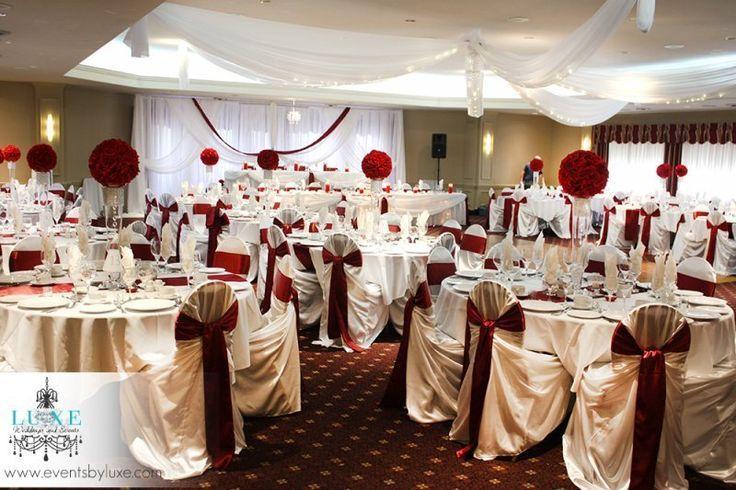 Burgundy Wedding Reception Decorations