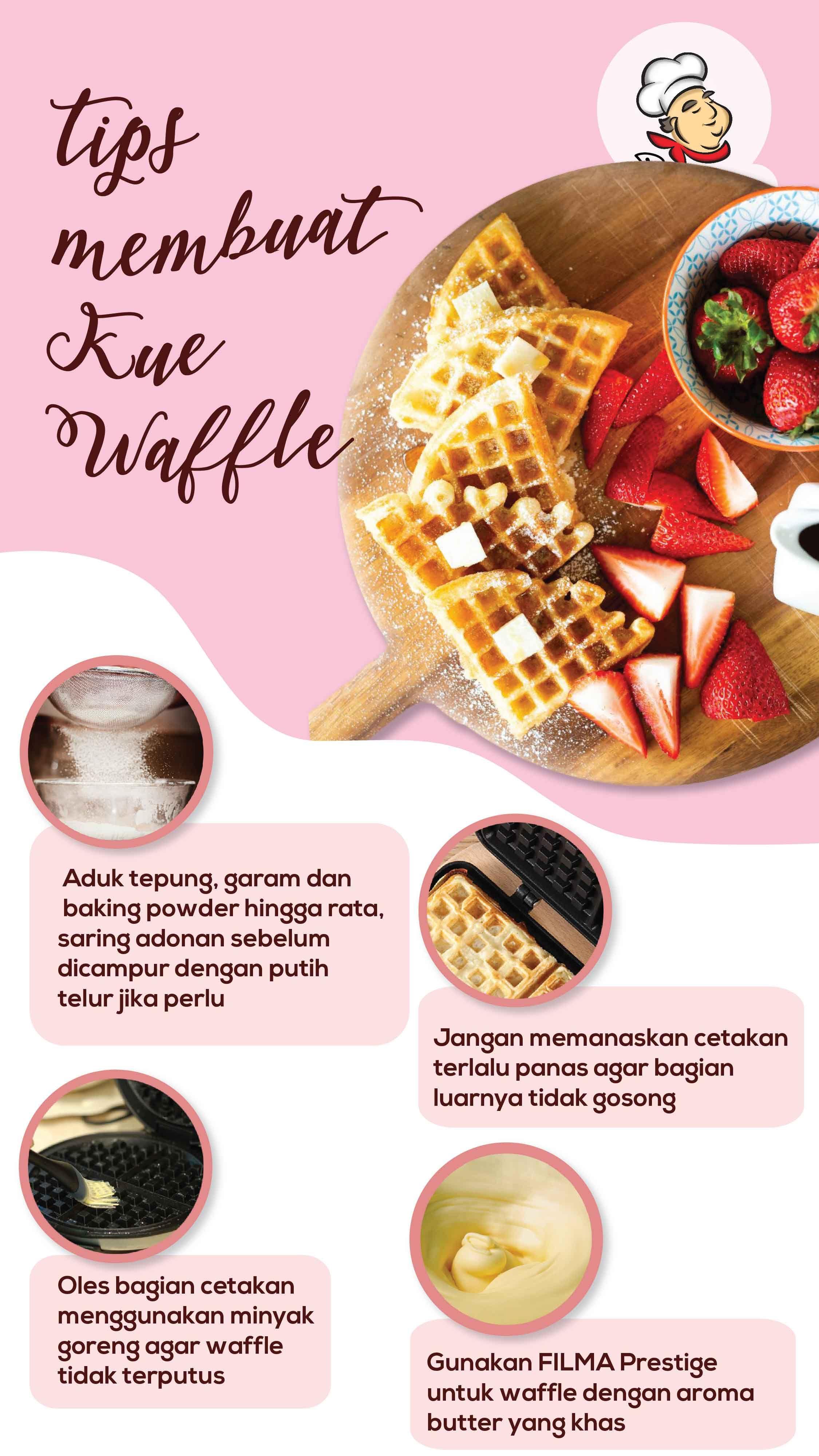 Tips Membuat Kue Waffle Resep Waffle Adonan