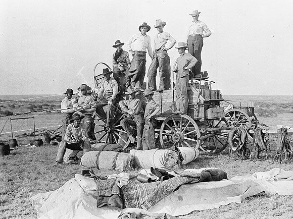 Shoe Bar Chuck Wagon, Hoodlum Wagon and Some of the Boys, 1912