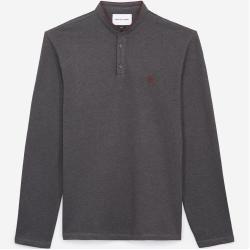 Photo of The Kooples – Graues Slim-Fit-Poloshirt mit Offizierskragen – Damenthekooples.com