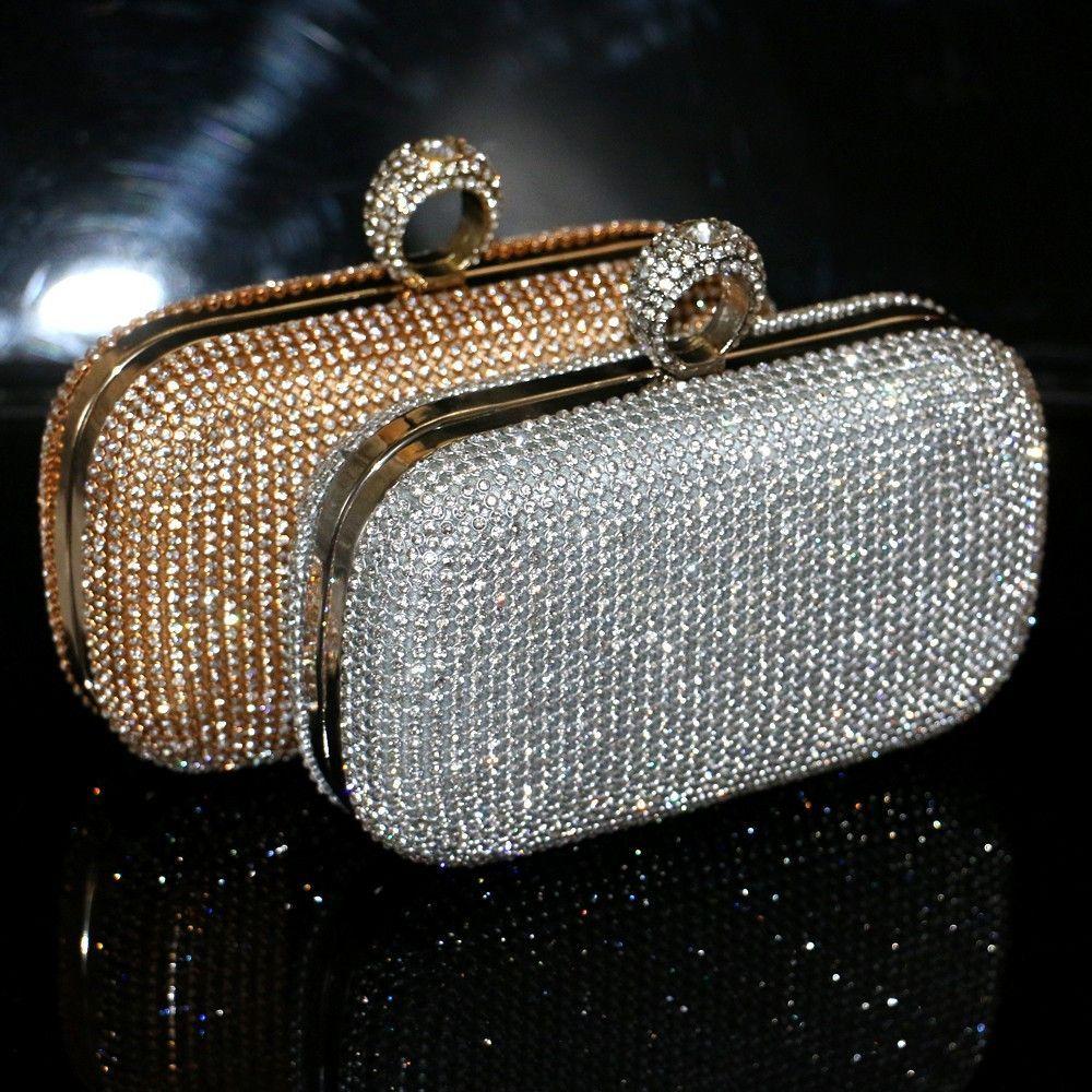 645c3e7975 diamond-studded evening bag evening bag with a diamond bag women's  rhinestone banquet handbag day clutch female 3 Color Item specifics Item  Type: Handbags ...