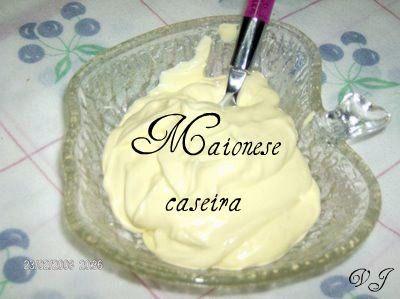 Receitas - Maionese caseira - Petiscos.com