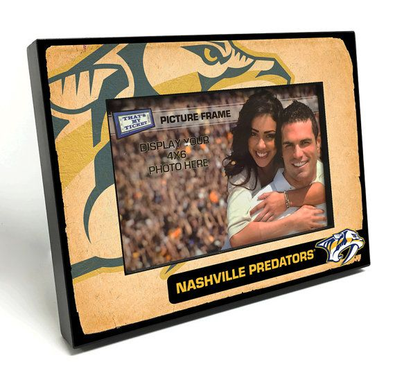 Nashville Predators Vintage Style Black Wood Edge 4x6 Inch Picture