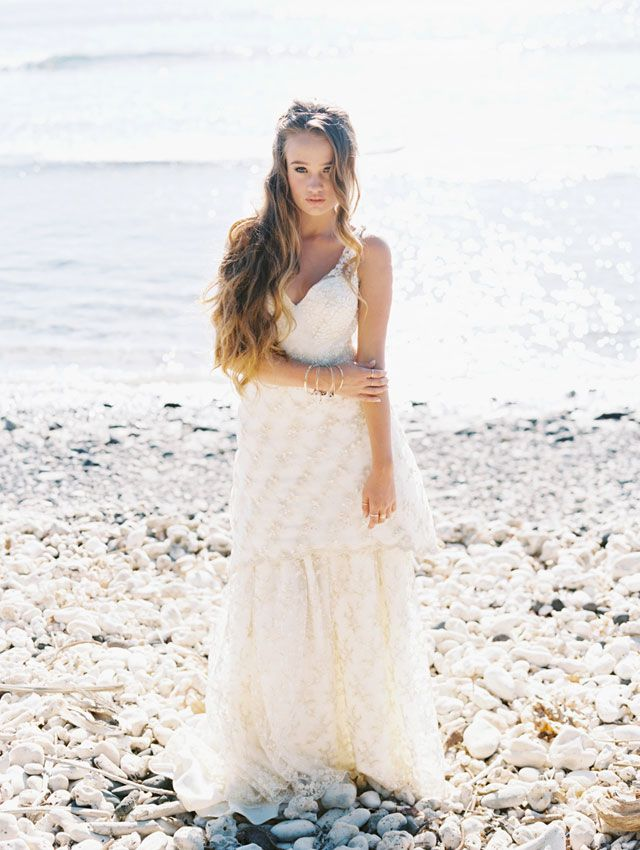 Golden Seaside Bridal Inspiration | Bridal shoot, Wedding dress and ...
