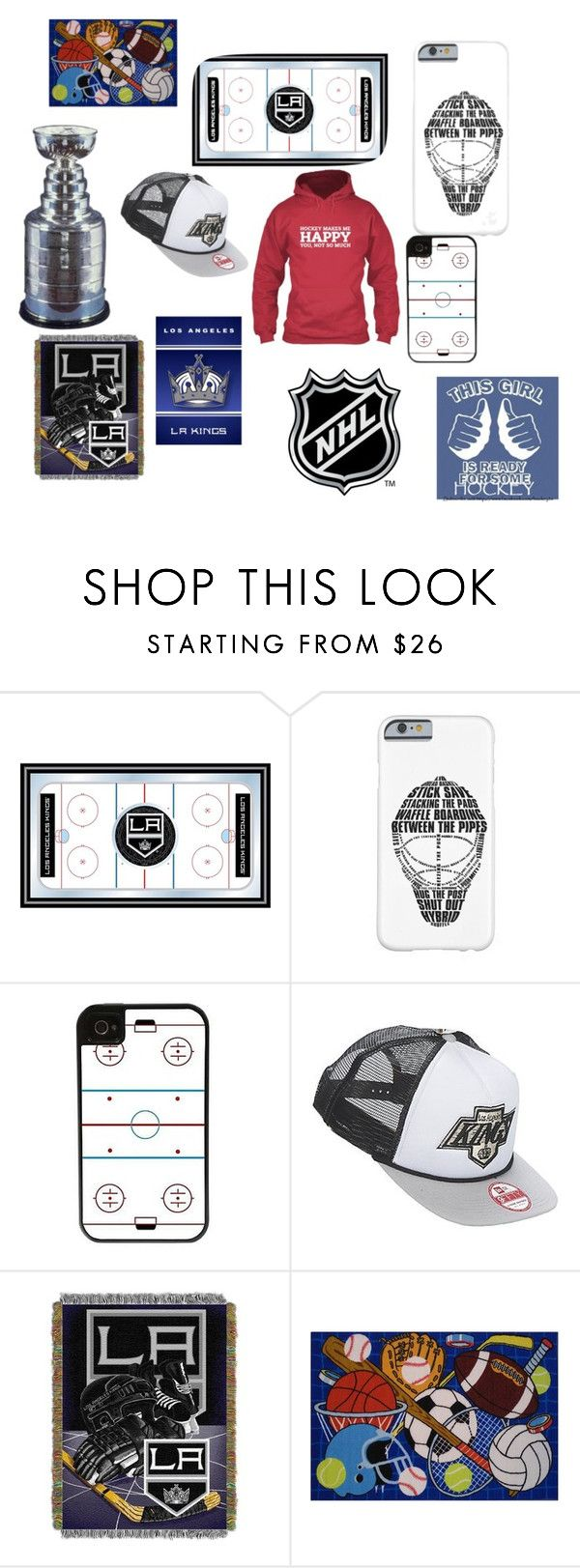 """""""I'm a hockey girl"""" by amypena1029 ❤ liked on Polyvore featuring CellPowerCases, New Era, The Northwest Company, Stanley Furniture and Fun Rugs"""