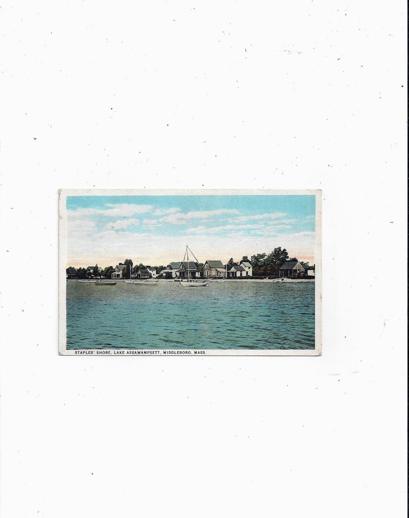 Middleboro Christmas Fair 2020 1930s Postcard of Staples' Shore Lake Assawampsett | Etsy in 2020