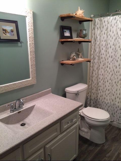 Budget bathroom remodel...Silvermist paint color, Sherwin ...