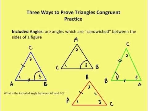 Geometry 32 Three Ways To Prove Triangles Congruent Video