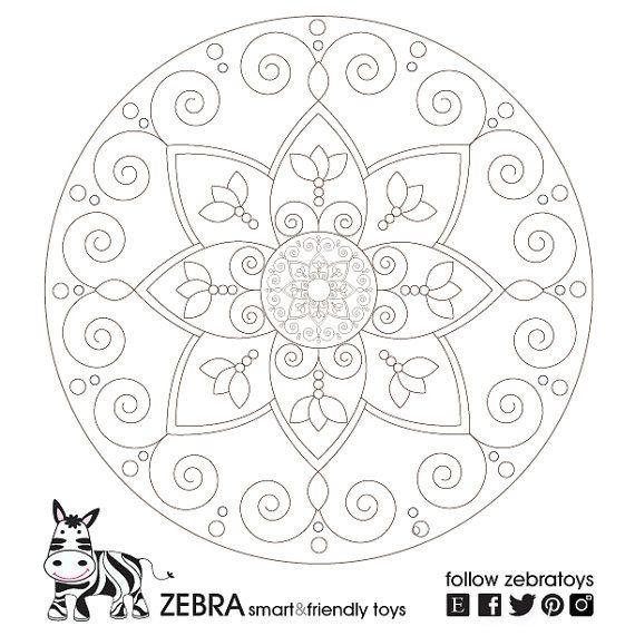 Harmony Mandala-Printable Art-Geometric Digital Print-Wall