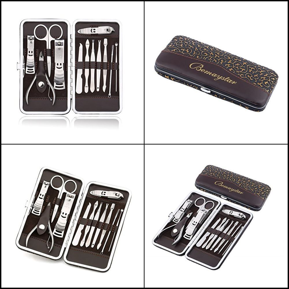 Women Nail Care Personal Manicure Pedicure Set Travel Grooming Kit ...