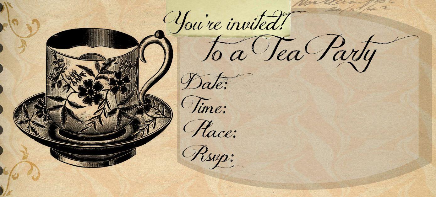 Printable Victorian Tea Party Invitations