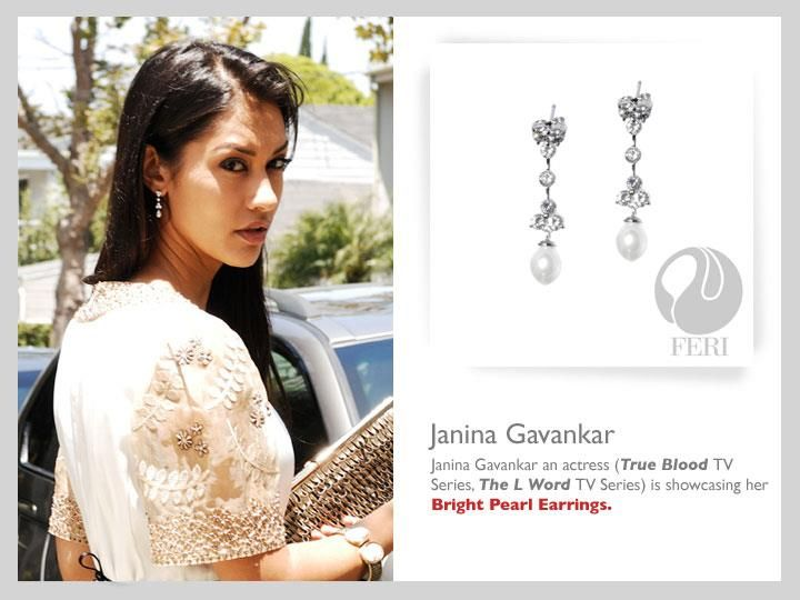 A Hollywood Celebrity Janina Gavankar is showcasin her Bright Pearl Earrings. Get Paid to Wear it with Global Wealth Trade!!!  Click here to learn more about Global Wealth Trade : www.gwtcorp.com/jgala
