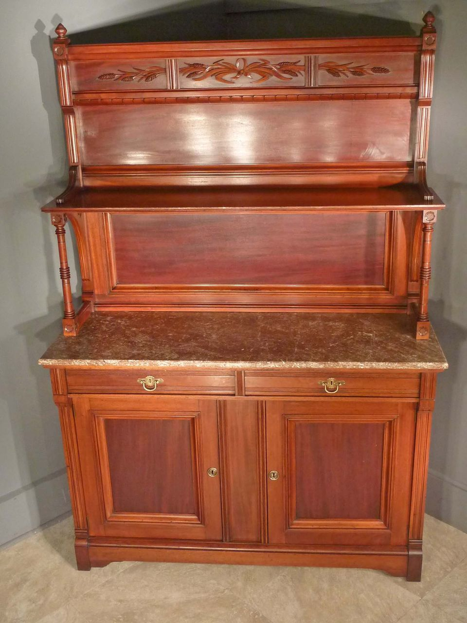 marble top victorian sideboard server buffet for the home rh pinterest com
