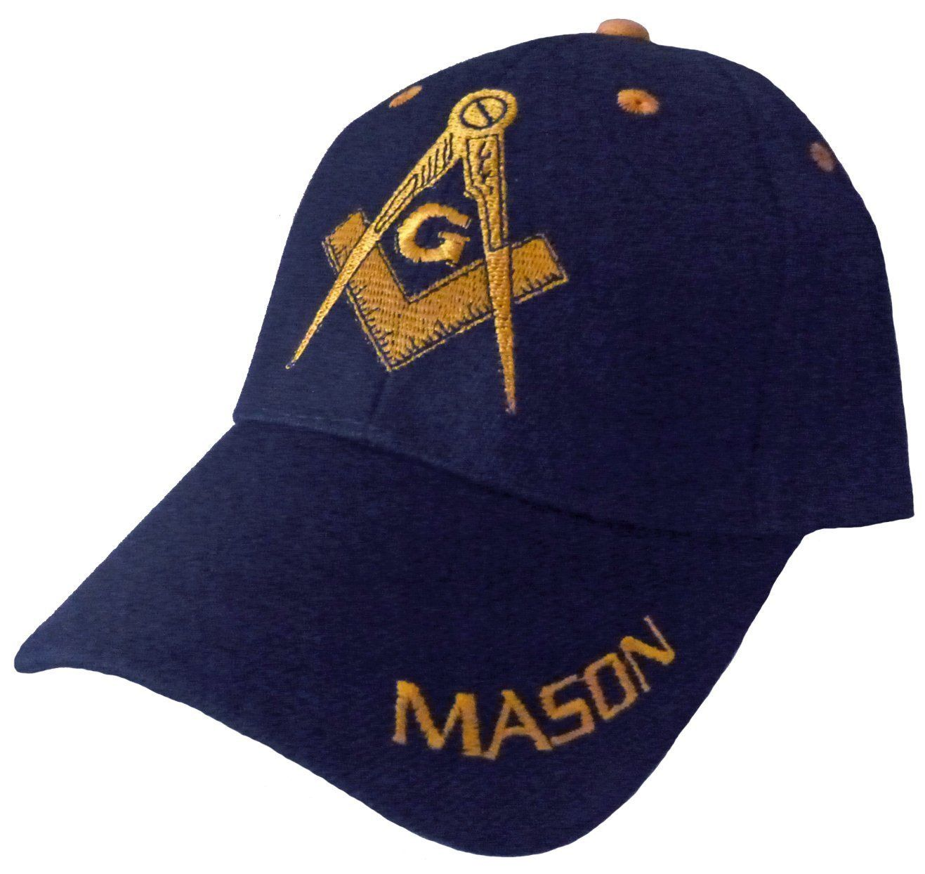 Mason Hat Navy Blue Baseball Cap with Masonic Logo Freemasons Shriners  Prince Hall Lodge Headwear f8322adf375c