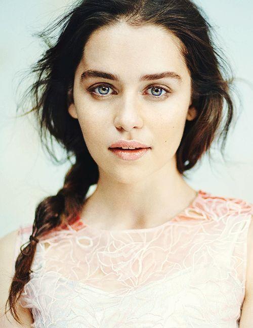 Brown Hair Light Blue Eyes By Speetway Emilia Clarke In