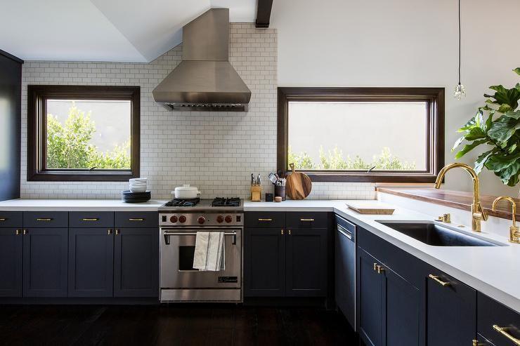 Stunning navy blue kitchen