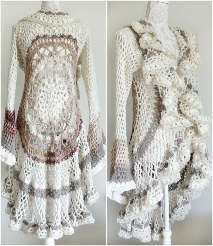 12 Free Crochet Patterns for Circular Vest Jacket | Crochet projects ...