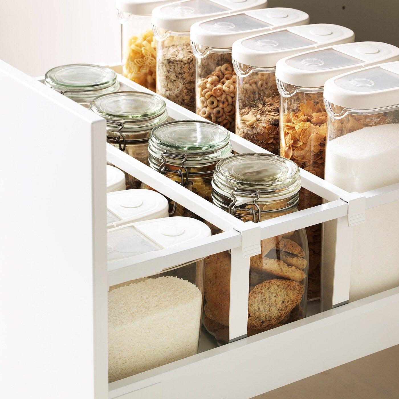 IKEA METOD / MAXIMERA Unterschrank 2 Fr/2 ni+1 haho+1 hohe Schublade/n - weiß/Bodbyn elfenbeinweiß