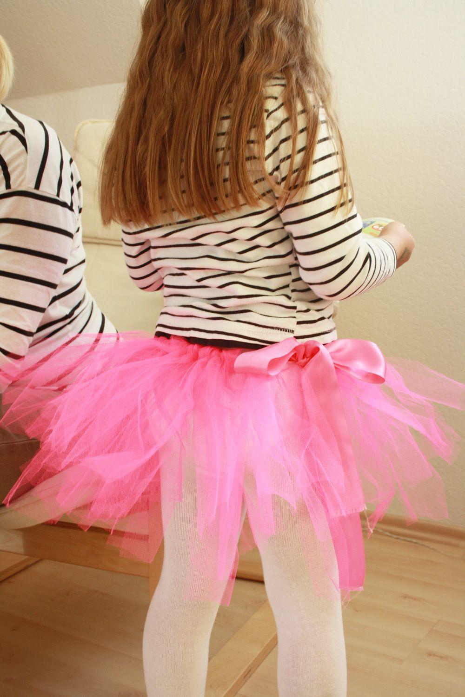 Hübscher Ballerina Tutu Mädchen-Rock in 5 Minuten easy-peasy selbst ...