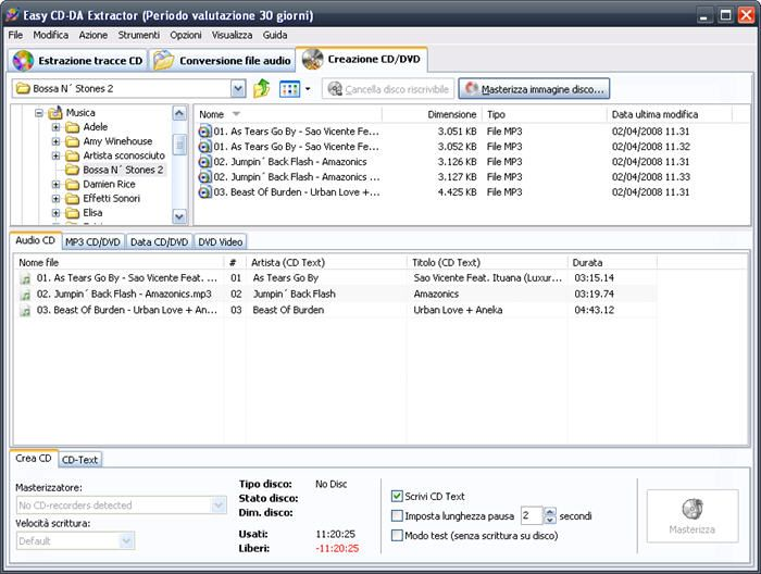 masterizzatore mp3 gratis