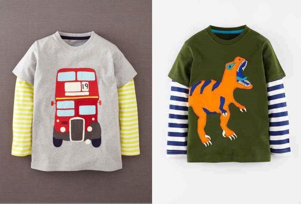 T-Shirts & Tops T-Shirts, Tops & Shirts Mini Boden boys t-shirt applique top short sleeve animals guitar plane  2-14